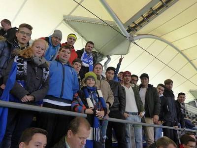 HSV Fußballspiel-Besuch