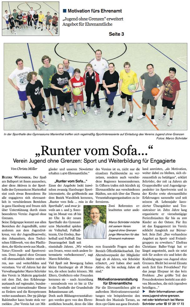 Runter Vom Sofa Freizeitsport Jugend Ohne Grenzen E V