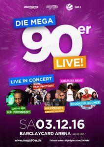 Flyer Tag des Ehrenamtes - 90er Party