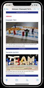 iPhone mit dem Jugend ohne Grenzen e.V. Newsletter